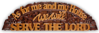 MAHOGANY PLAQUE - AS FOR ME CARVING XL CHRISTIAN GIFT STORE SYDNEY