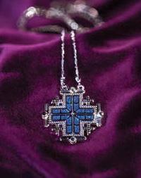 JERUSALEM CROSS 2 NECKLACES IN 1