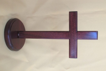 MAHOGANY CROSS - FREESTANDING