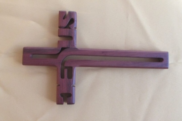 MAHOGANY CROSS - JESUS