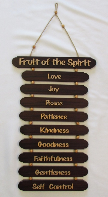 MAHOGANY PLAQUE - FRUIT OF THE SPIRIT