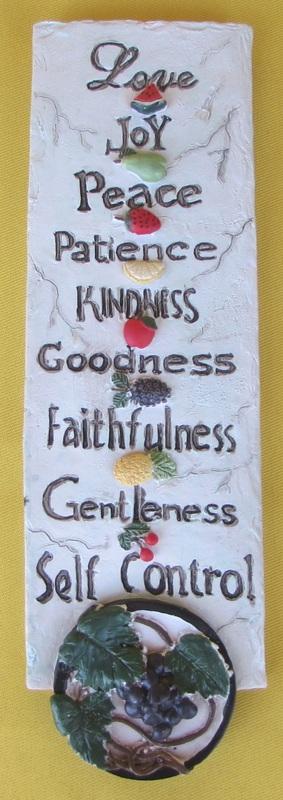 RESIN PLAQUE - FRUIT OF THE SPIRIT