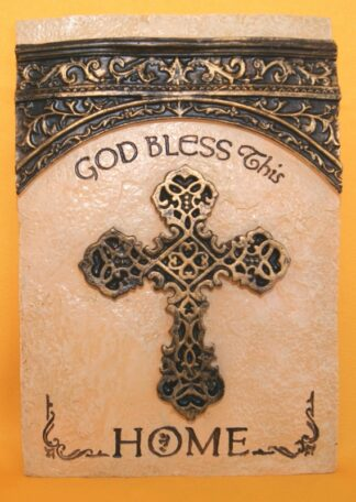 RESIN PLAQUE - GOD BLESS
