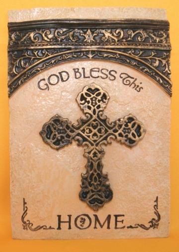 RESIN PLAQUE - GOD BLESS