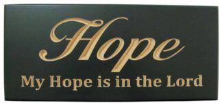 WOODEN PLAQUE - HOPE