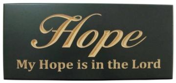 WOODEN PLAQUE - HOPE