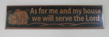 Wooden Plaque As For Me 40cm