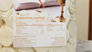COMMUNION WAFERS INFORMATION CHURCH SUPPLIES SYDNEY