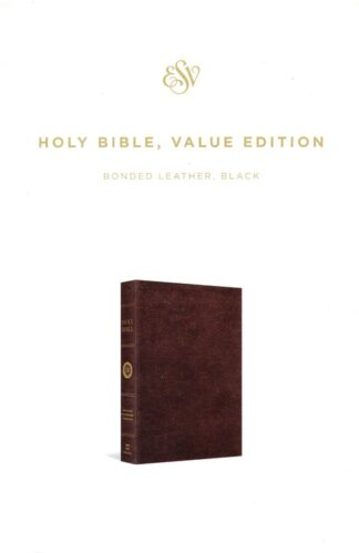 ESV HOLY BIBLE, VALUE EDITION (BLACK) BONDED LEATHER CHRISTIAN GIFT STORE SYDNEY