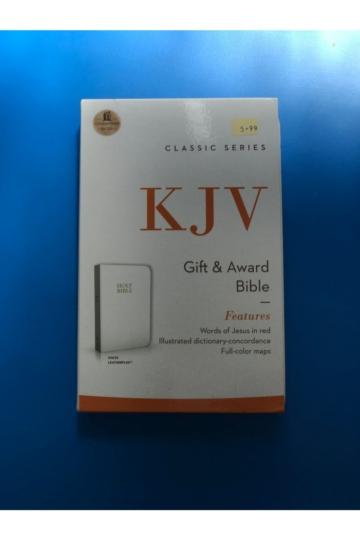 Classic Series KJV Gift & Award Bible White
