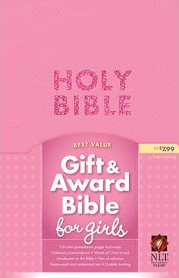 Gift and Award Bible for Girls-NLT New Living Translation Bubblegum Pink Imitation Leather Gift and Award Bible