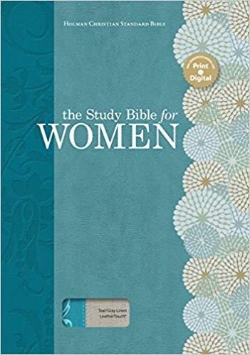 HCSB Holman Study Bible For Women HCSB Edition Teal-Gray Linen