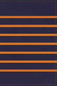 KJV Gift Bible Navy-Orange Stripe (Red Letter Edition)