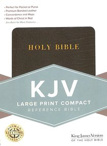Large Print Compact Ref. Bible - Black