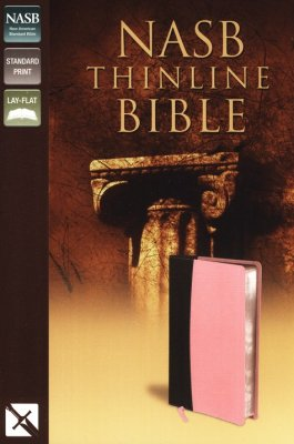 NASB Thinline Bible, Italian Duo-Tone, Pink-Chocolate
