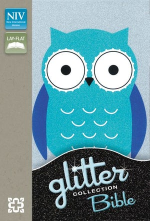 NIV Glitter Bible Blue Owl (Red Letter Edition)