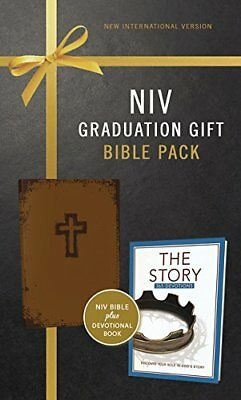 NIV, Graduation Gift, Bible Pack for Him, Brown, Red Letter Edition by Zondervan