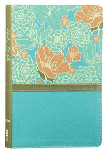 NIV Thinline Bible Large Print Blue Floral (Red Letter Edition)