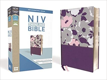 NIV Thinline Bible Purple Floral (Red Letter Edition)