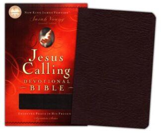 NKJV Jesus Calling Devotional Bible Bonded Leather, Black