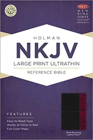 NKJV Large Print Ultrathin Reference Bible, Slate Blue LeatherTouch