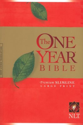 NLT One Year Premium Slimline Large Print Bible 10th Anniversary - softcover