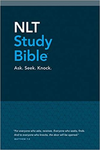 NLT Study Bible (Red Letter, Hardcover, Blue Fabric) Hardcover – April 1, 2017