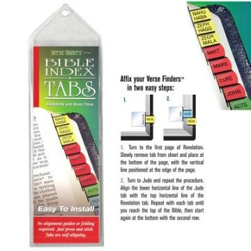 Bible Tabs - Horizontal Color Verse Finders