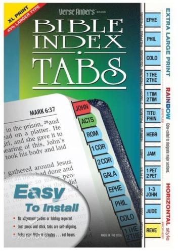 Bible Tabs Verse Finders Extra Large Print Rainbow (Horizontal)