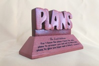 Desk Top Plaque-Wooden -Bless