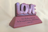 Desk top Plaque-Wooden-Love