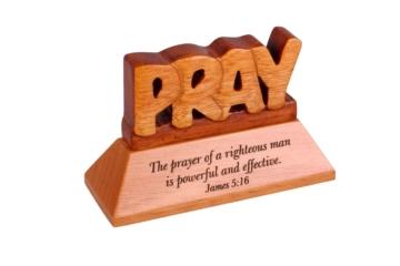 Desk top Plaque-Wooden-Pray