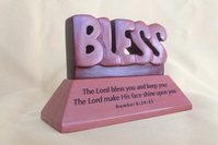Desk Top Plaque-Wooden -Bless