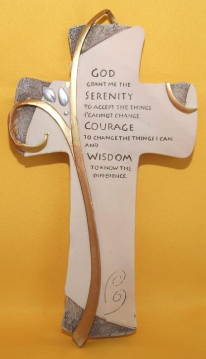 Resin Cross-God grant me SERENITY ..