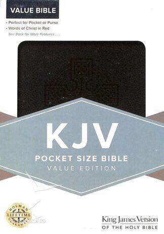 KJV Pocket Size Bible Value Edition Black Leathertouch Flexibound