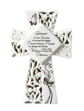 LED LIGHT UP CROSS - SERENITY PRAYER