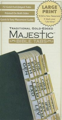 Majestic Bible Tabs - Traditional Gold Large Print
