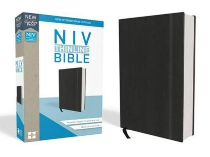 NIV, Thinline Bible, Hardcover, Black, Red Letter Edition, Comfort Print