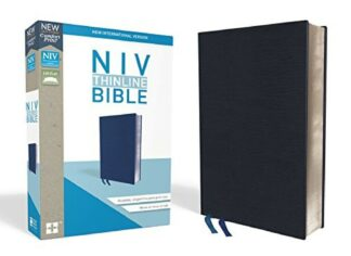 NIV Thinline Bible Navy (Red Letter Edition).