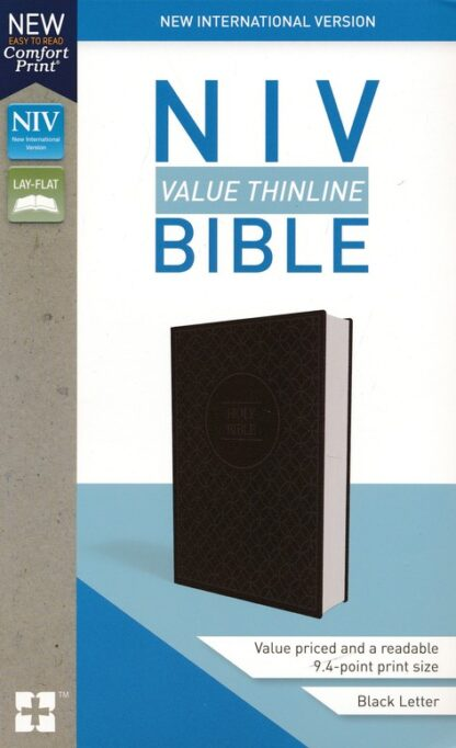 NIV Value Thinline Bible Gray and Black, Imitation Leather