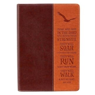 Classic Journal- Wings Like Eagles, Brown-Dark Brown Luxleather Isaiah 40-31